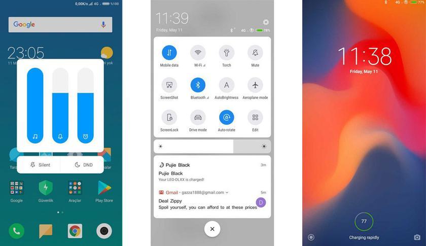 Как будет выглядеть интерфейс MIUI 10: закругленные края и Android P-стиль