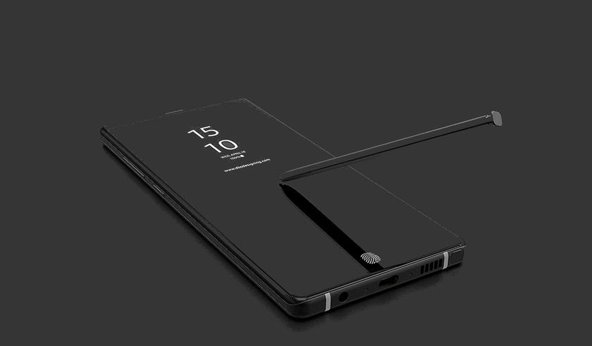 Дизайнеры показали концепт Samsung Galaxy Note 9