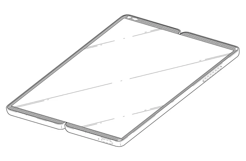 Смартфон-планшет сгибким дисплеем, который складывается пополам— LGпредставила патент