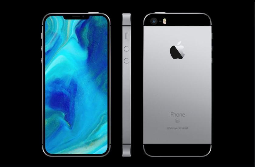 Новые рендеры iPhone SE 2: без кнопки Home и 3,5-мм входа, зато с вырезом и беспроводной зарядкой