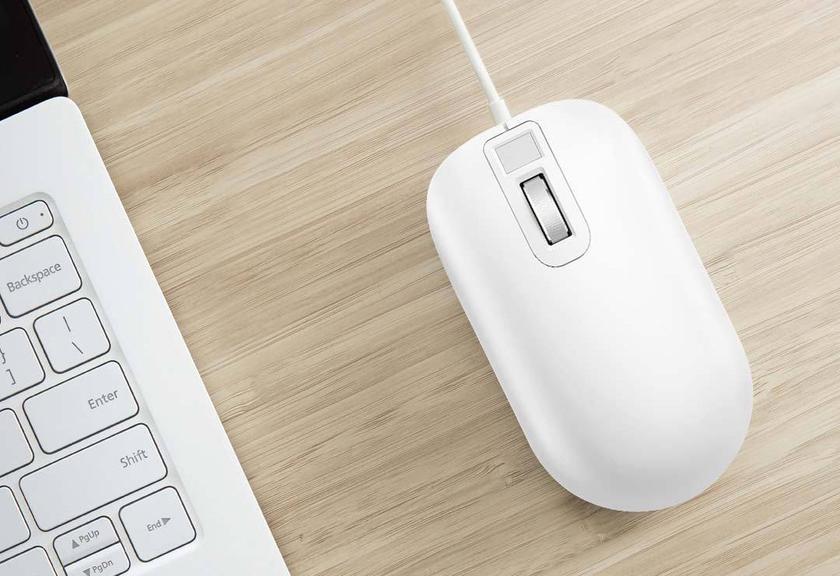 Xiaomi представила мышку сосканером отпечатков пальцев