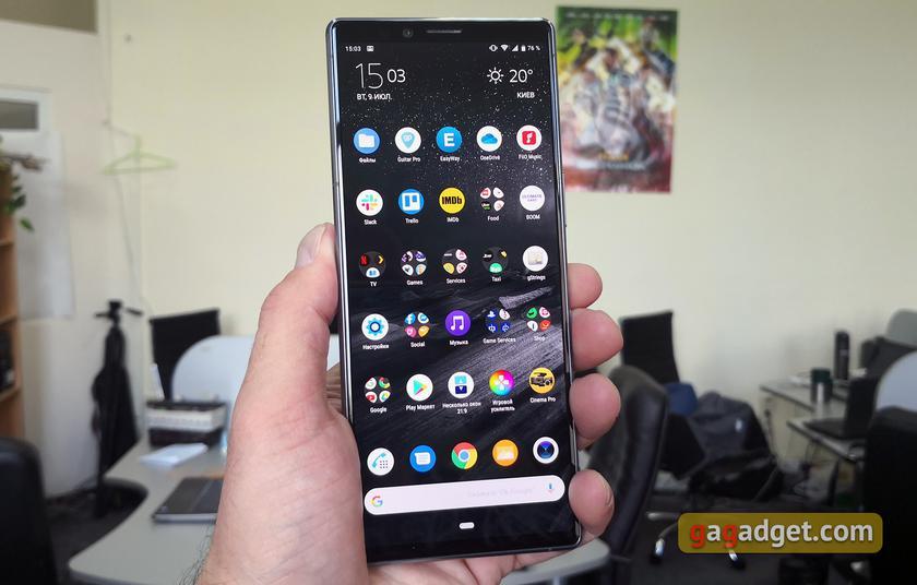 "Обзор Sony Xperia 1: ""высокий"" флагман с 4K HDR OLED дисплеем"