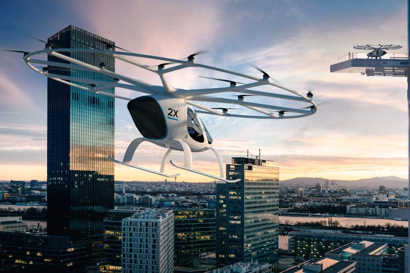 Intel показала наCES концепт летающего автомобиля Volocopter