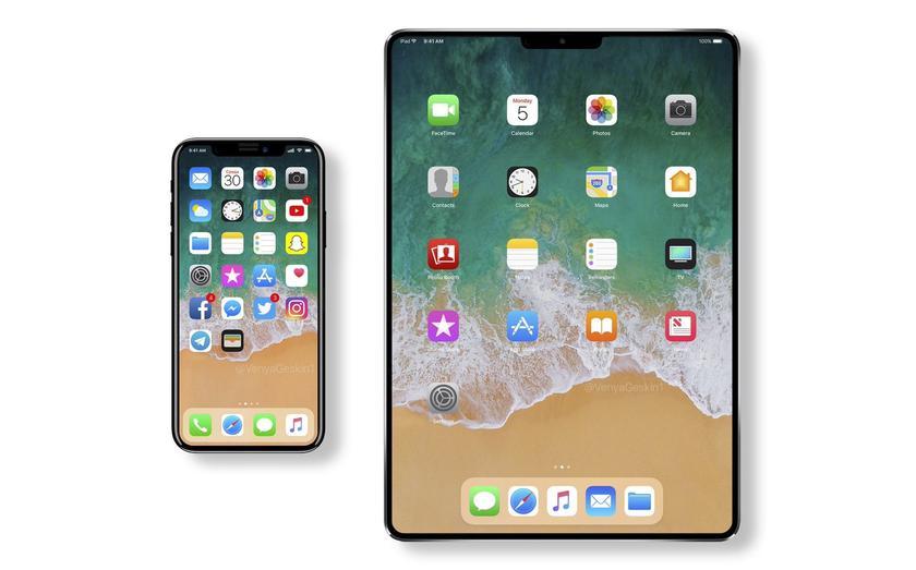 Apple готовит к выходу iPad Pro с дизайном iPhone X