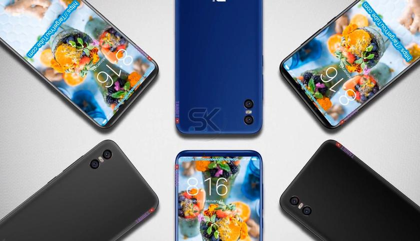 Xiaomi Mi 7 video conjecture: frameless flagship with a built-in fingerprint scanner
