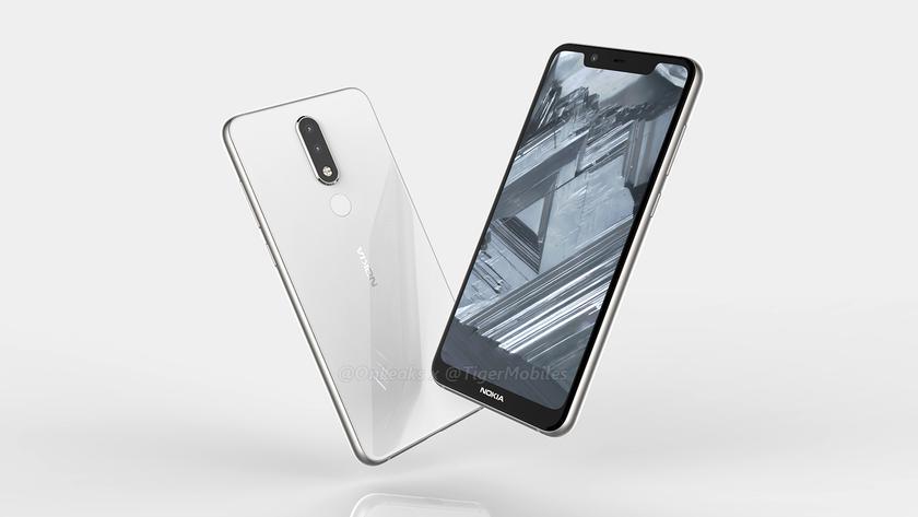 Как будет выглядеть Nokia 5.1 Plus традиционная челка и двойная камера