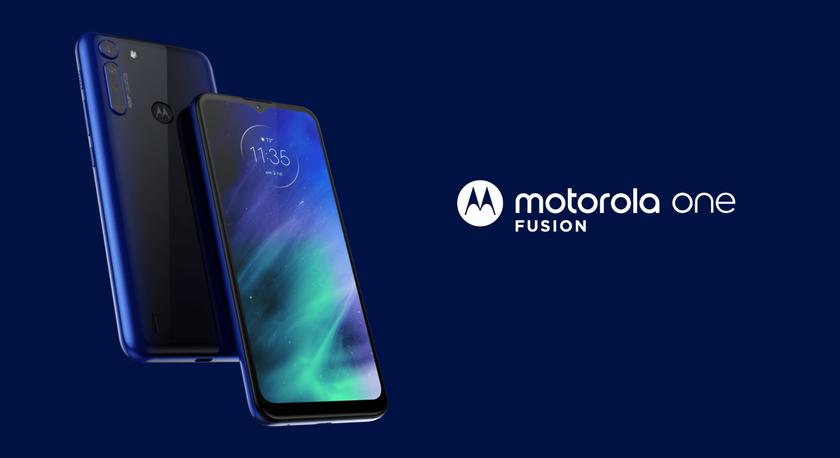 Motorola One Fusion квадро-камера на 48 Мп процессор Snapdragon 710 и батарея на 5000 мАч