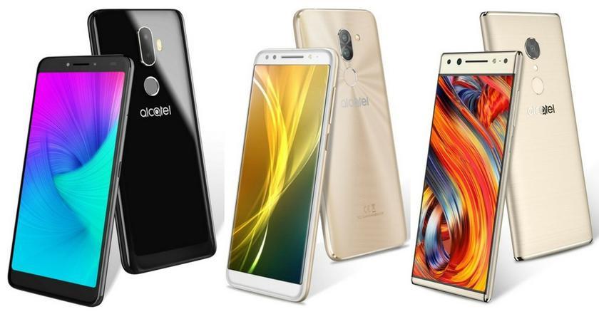 TCL Communication представит линейку телефонов Alcatel 5, Alcatel 3v иAlcatel 1x