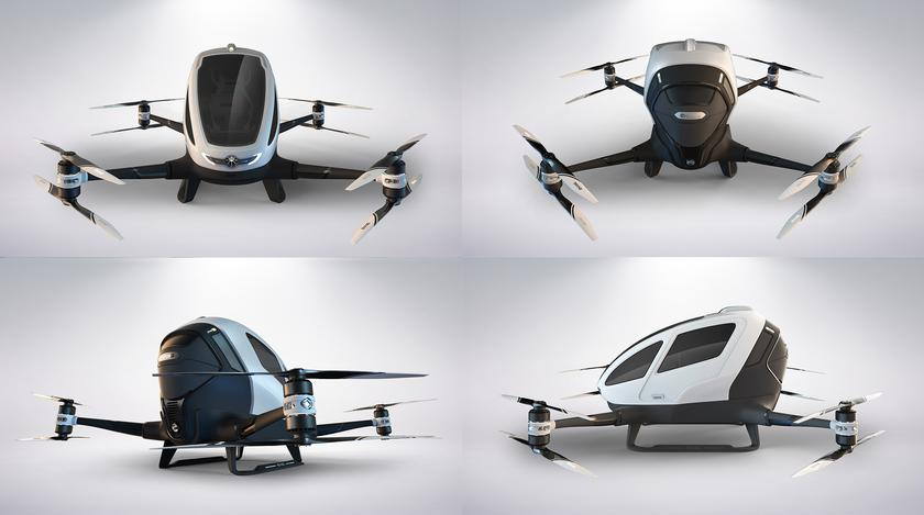 Passenger drone Ehang 184 made the first flight with a man on board