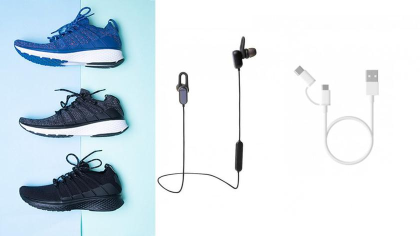 Xiaomi starts selling wireless headphones, male sneakers, and the USB-cable 2-in-1