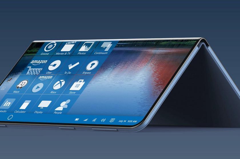 Microsoft запатентовала сгибаемый смартфон с тремя экранами
