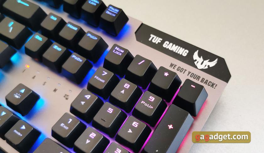 Обзор ASUS TUF Gaming K7: молниеносная игровая клавиатура с пыле- и влагозащитой-7