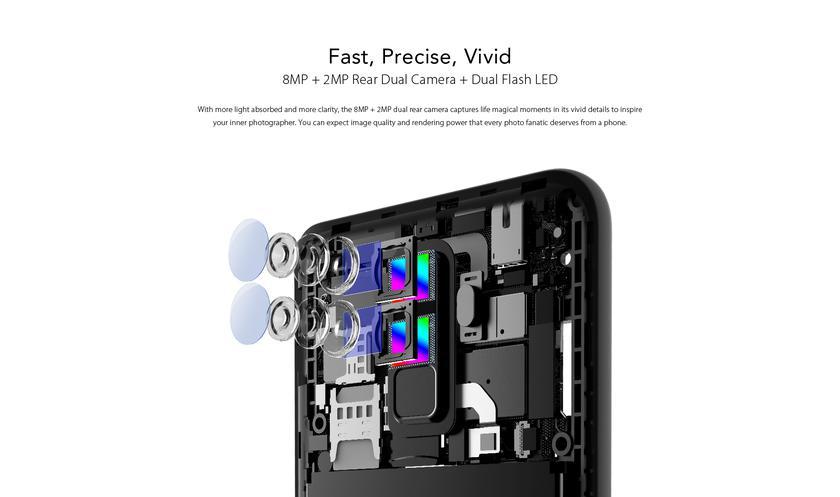 Полноэкранный смартфон Leagoo M9 счетырьмя камерами стоит $80