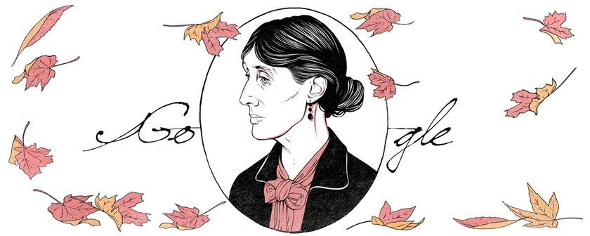Google празднует 136 лет содня рождения Вирджинии Вульф