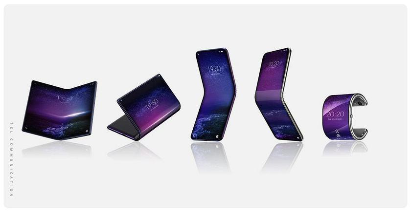 Владелец BlackBerry иAlcatel готовит сразу 5 складных телефонов сгибкими экранами