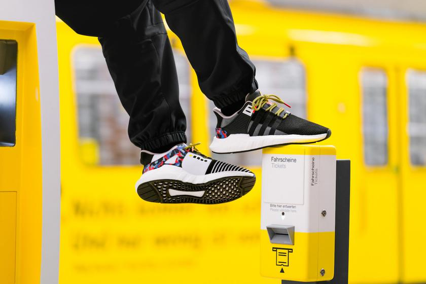 Adidas released smart sneakers with a sewn travel card in public transport