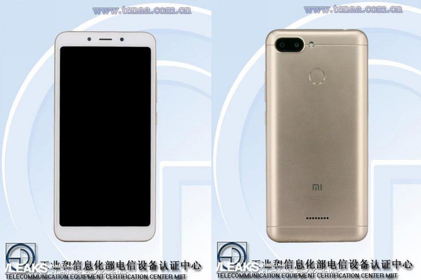 TENAA раскрыл внешний вид и характеристики смартфона Xiaomi Redmi 6 или Redmi 6A
