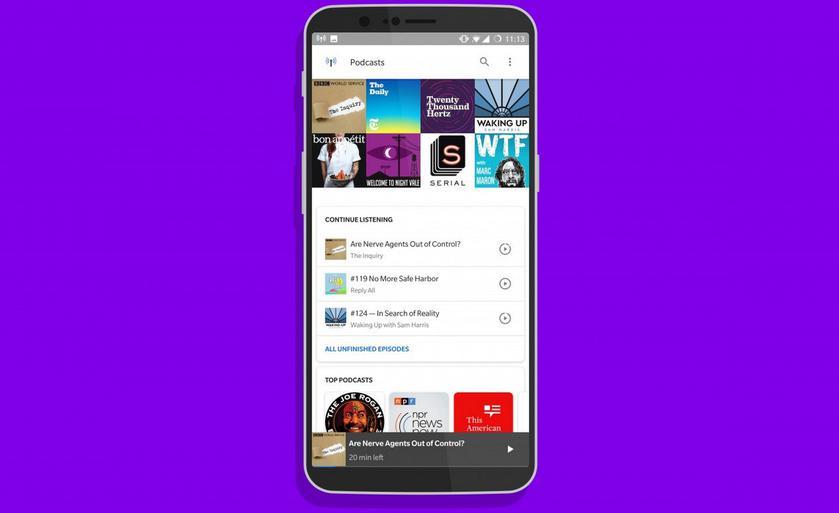 Google встроила подкаст-плеер в поиск на Android