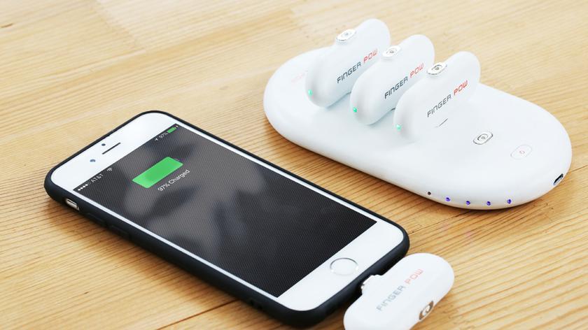 Finger Pow: портативный аккумулятор, которому не нужны провода