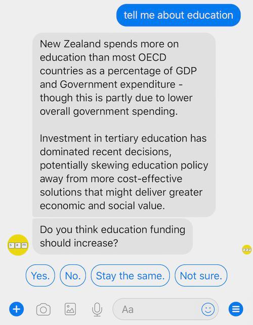 Новозеландец создал виртуального политика для общения с избирателями