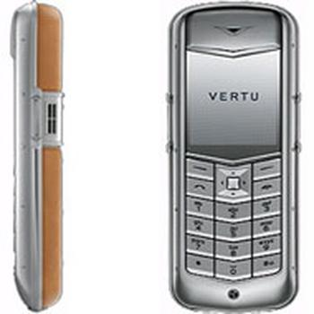 Vertu Constellation Steel Tan Brown Leather