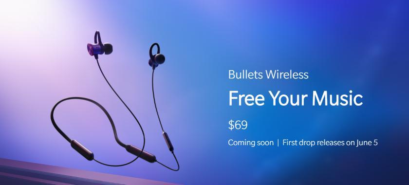 Анонс OnePlus Bullets Wireless: беспроводные наушники с быстрой зарядк