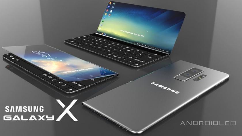 Видеоконцепт складного смартфона Samsung Galaxy X: аппарат превращается в ноутбук