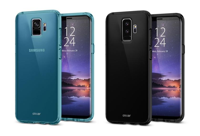 Smartphones Samsung Galaxy S9 and S9 + appeared in the case Olixar