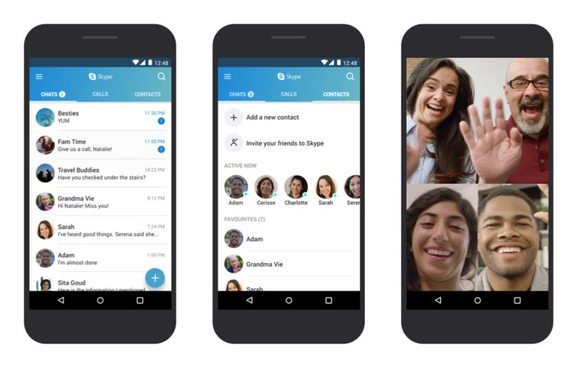 Skype optimized for old smartphones on Android