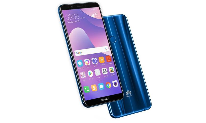 Huawei представила бюджетный безрамочник Y7 Prime (2018) с двойной камерой и NFC-модулем