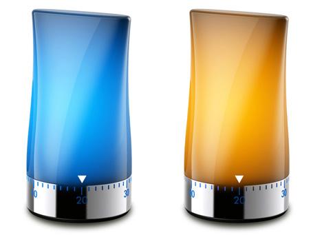 Фишка таймера To Light - светодиодная подсветка.  Пока пружина крутит таймер - светодиоды горят.