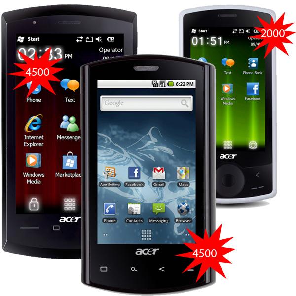 где были представлены первые модели смартфонов Acer, а еще годом ранее