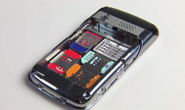 телефоны 4 сим картами