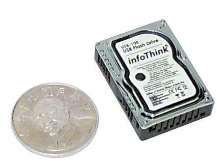 USB-флешка в виде миниатюрного жесткого диска-2