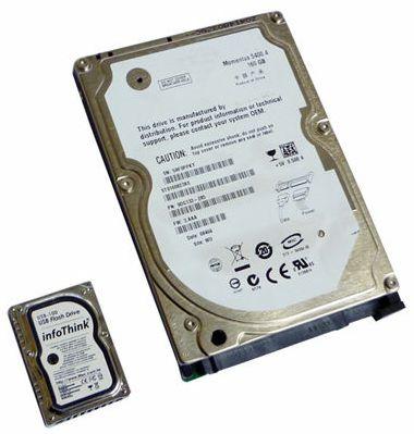 USB-флешка в виде миниатюрного жесткого диска-3