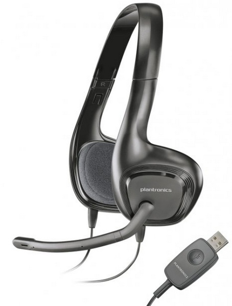For followers of the wires: USB-Stereo Headset Plantronics .Audio 622