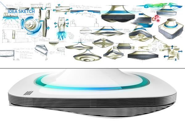 Water Wave: концепт кондиционера с визуальными и аудио эффектами-3