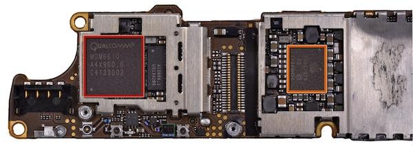 Фрагмент основной платы iPhone