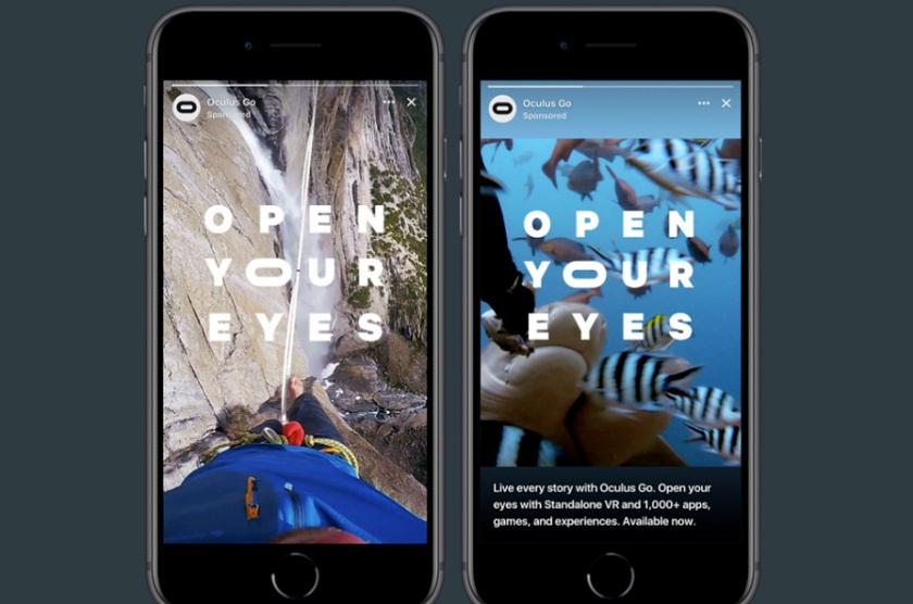 Facebook тестирует рекламу в «историях»