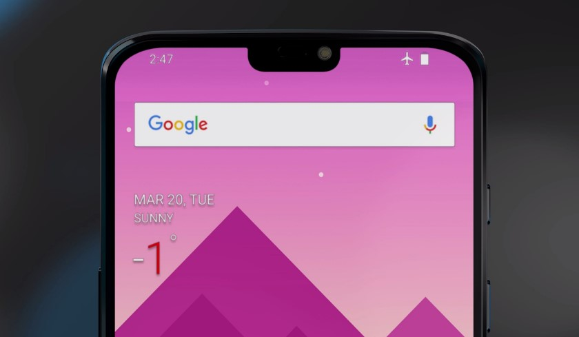 "Users of OnePlus 6 will be able to get rid of the ""visor"" of the smartphone"