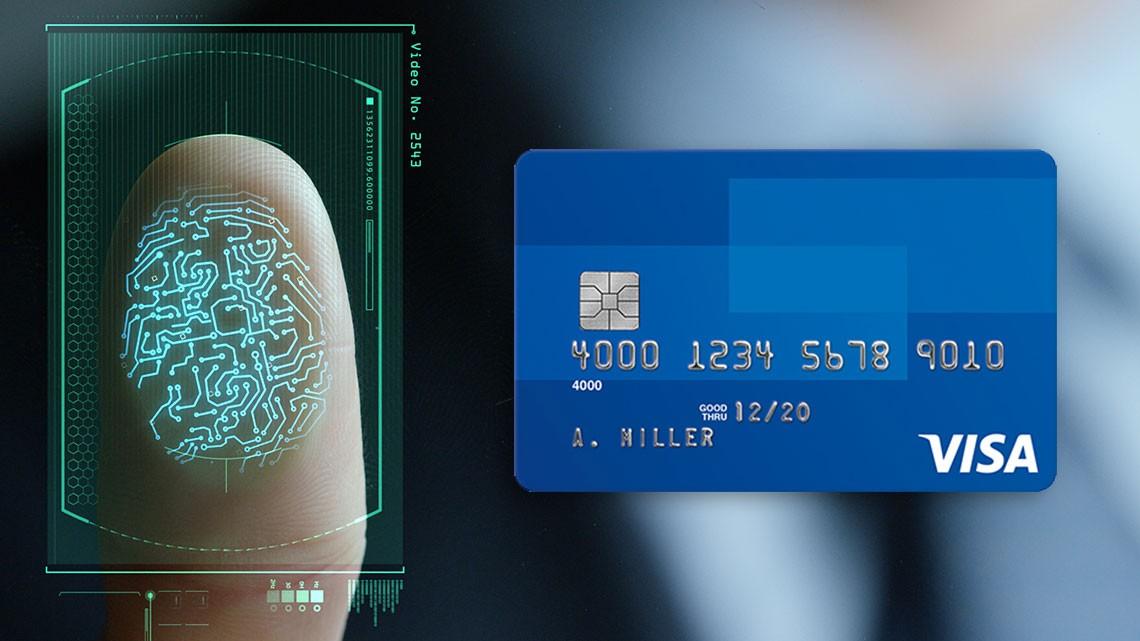 Платежные карточки VISA будут сосканером отпечатка пальца