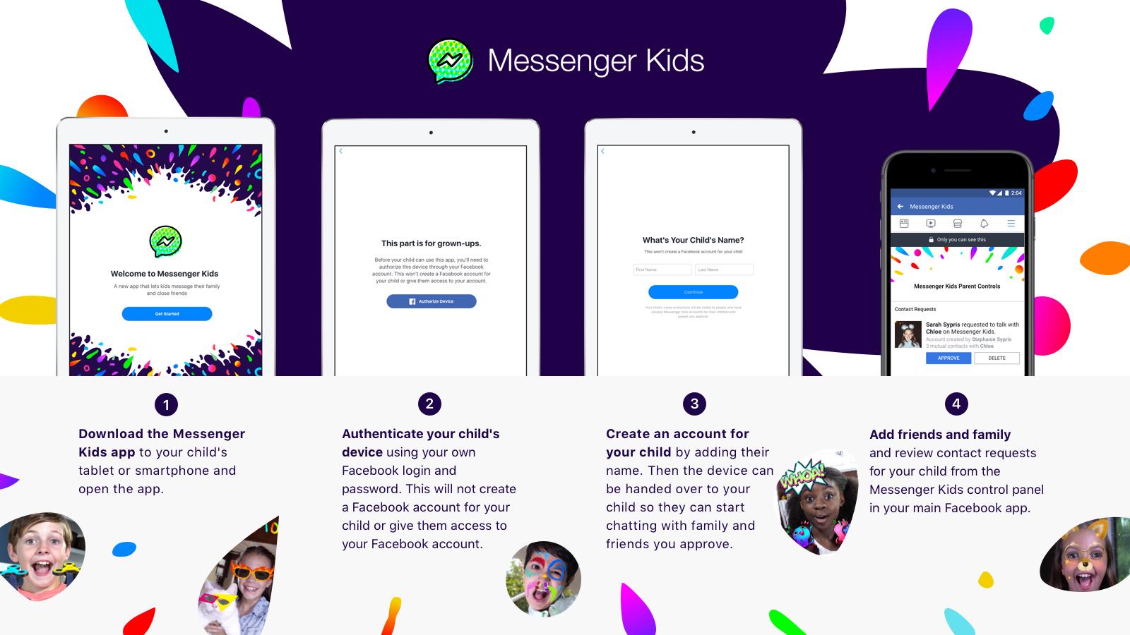 Facebook запустит новый мессенджер для детей