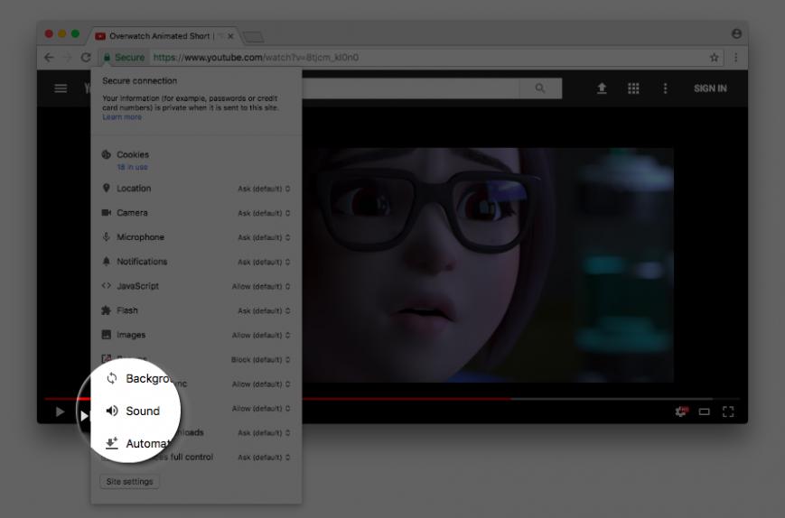 Google Chrome запустит возможность навечно глушить звуки наопределенных интернет-ресурсах