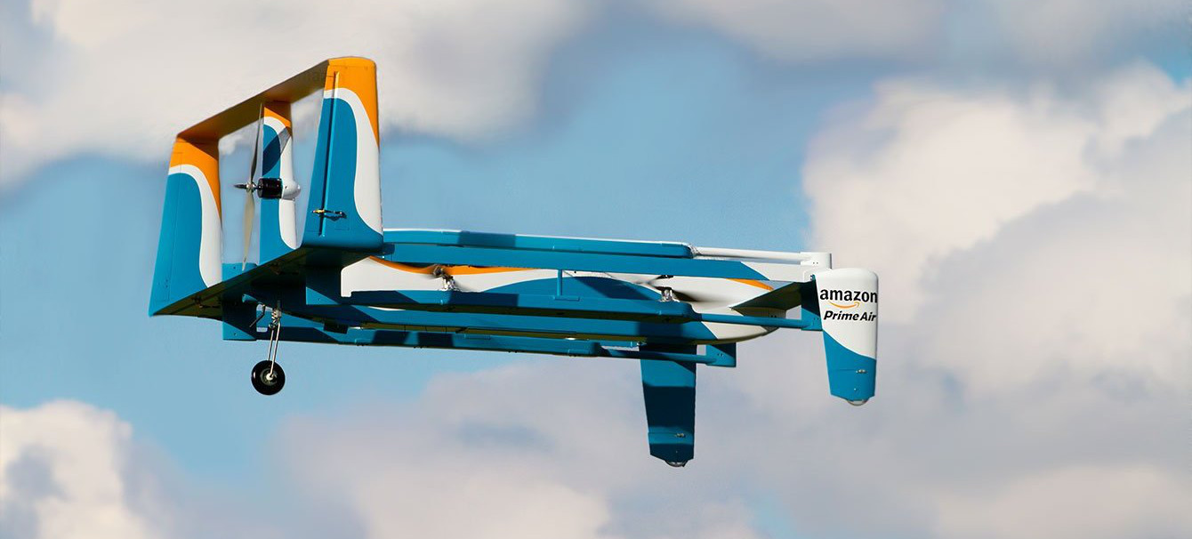 Подробности о доставке товаров дронами Amazon Prime Air