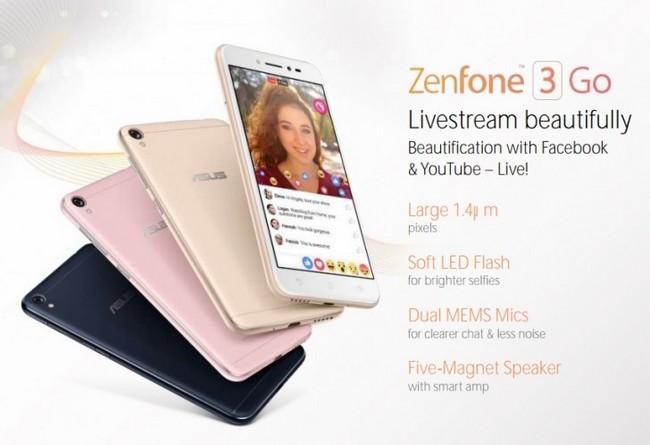 Фото ихарактеристики дешевого Asus Zenfone 3 Go— Утечка