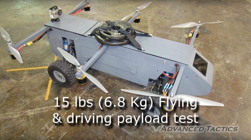 ВСША показали летающий дрон-внедорожник
