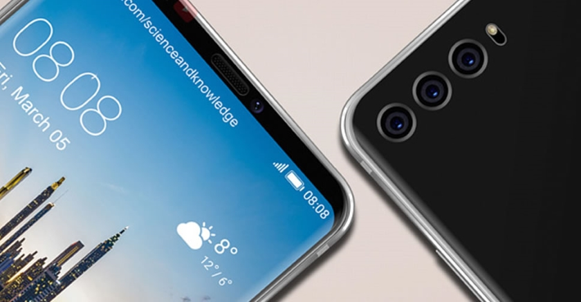 The design of the invitation to the presentation Huawei P20 alludes to three cameras
