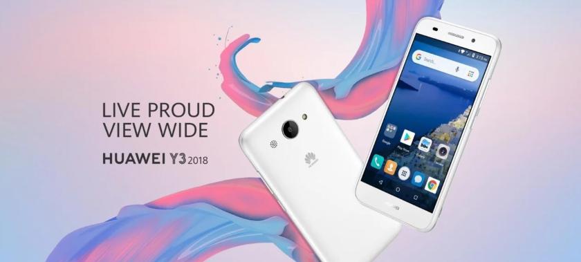 В сети появились характеристики и рендеры Huawei Y3 (2018)