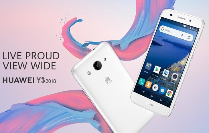 Анонс Android Go-смартфона Huawei Y3 (2018): чип MediaTek МТ6737, 1 ГБ ОЗУ и камера на 8 Мп