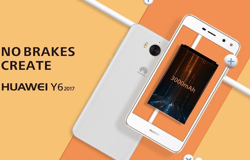 Смартфон начального уровня Huawei Y6 2017 представлен официально
